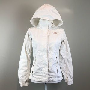 The North Face White windbreaker jacket XS